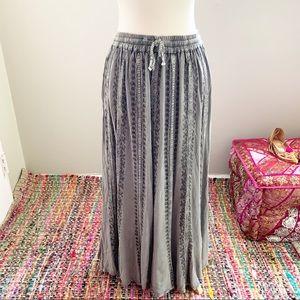 Gray Boho Hippie Skirt